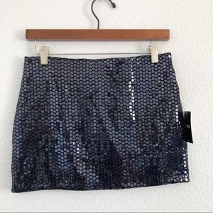 F21 Navy Black mini skirt